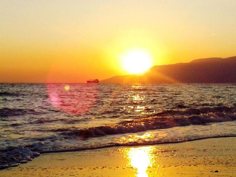 Sky Sunset Water Sunlight Scenics Sea Outdoors Horizon Over Water Beach Sun Dramatic Sky No People Day Wave Turkey Enjoying Life Ship So Far Away Gemi Beauty