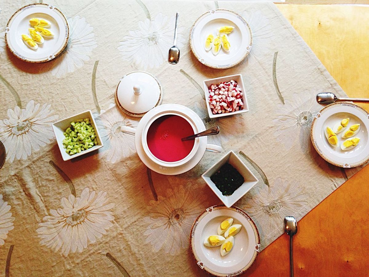 Family FamilyDiner High Angle View Tea - Hot Drink Healthy Eating Food And Drink Indoors  Directly Above Bowl Preparation  No People Drink Studio Shot Food Freshness Day