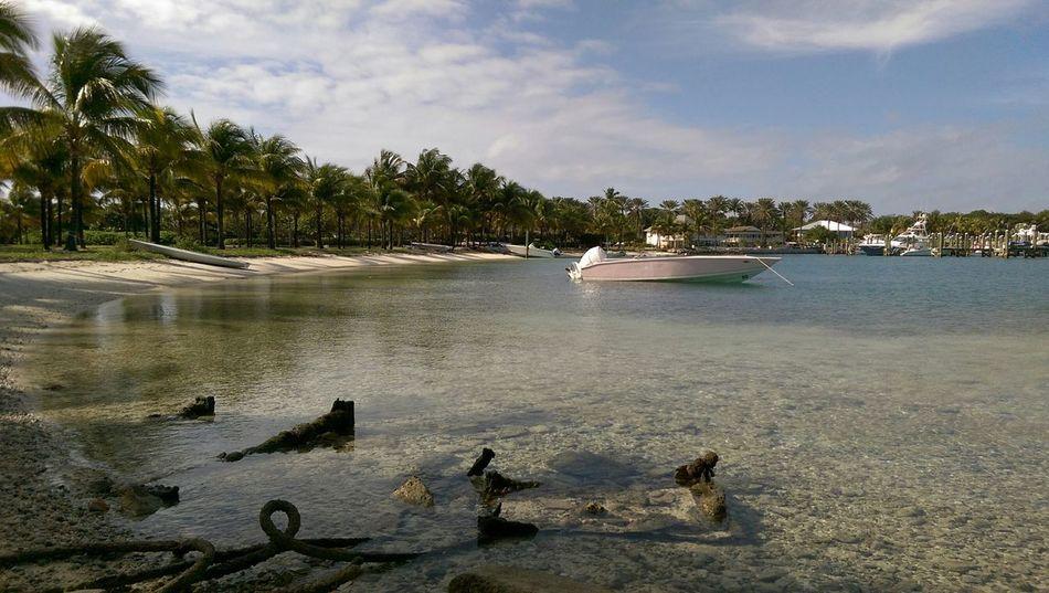 Beautiful stock photos of bahamas, Beach, Boat, Cloud - Sky, Day
