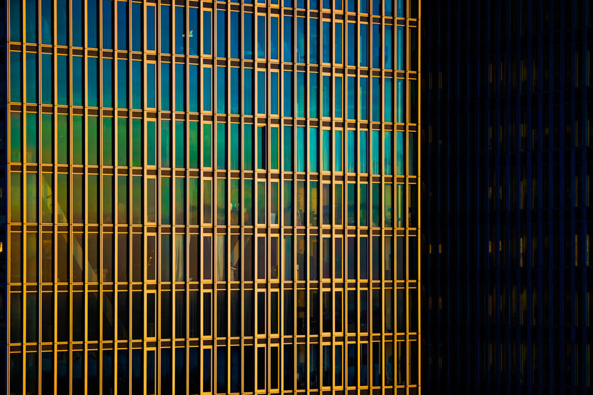DeRotterdam shining in morning light Architecture Rotterdam Building Day Derotterdam Metal Pattern Sun Light Sunrise Windows