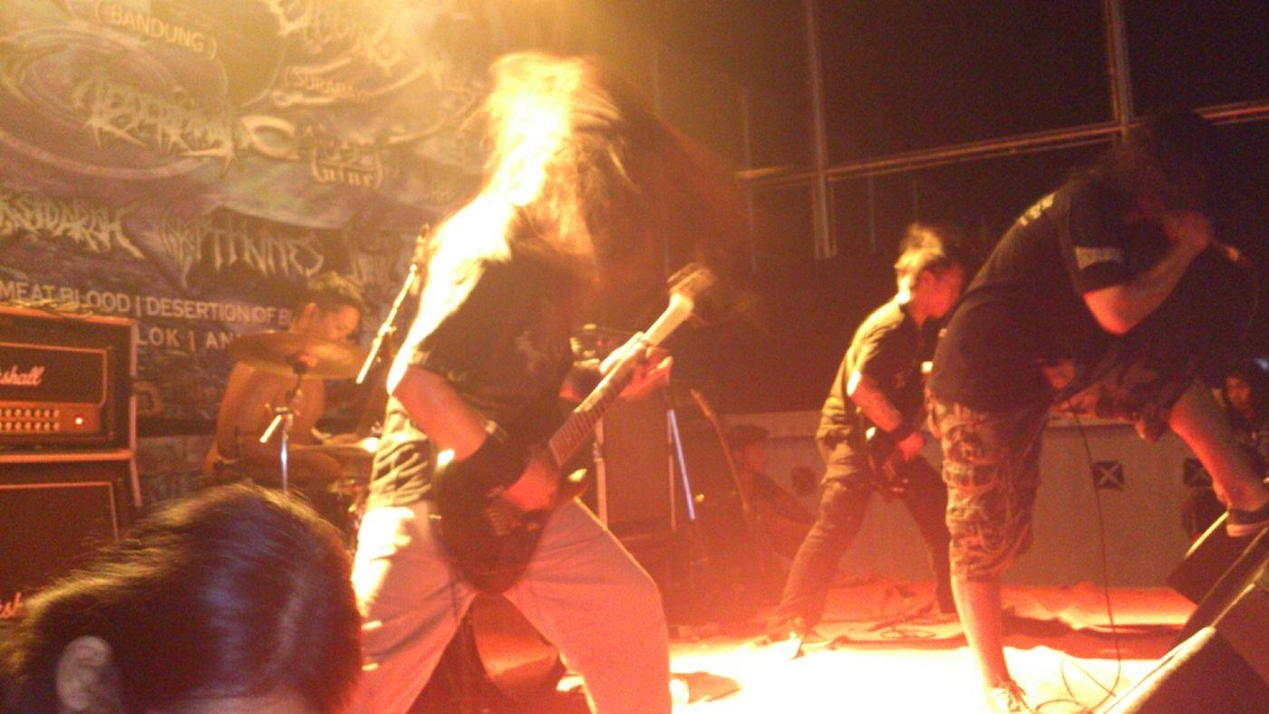 JAGAL DEATH METAL Band Performance Red Sidoarjo Stage Life Metalheads Death Metal JAGAL