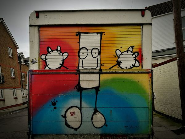 Wonders of this city 🤗 Graffiti Street Art Creativity Building Exterior Multi Colored Outdoors No People Day Spray Paint City Close-up Portsmouthphotographer Southsea Wintertime Art Is Everywhere
