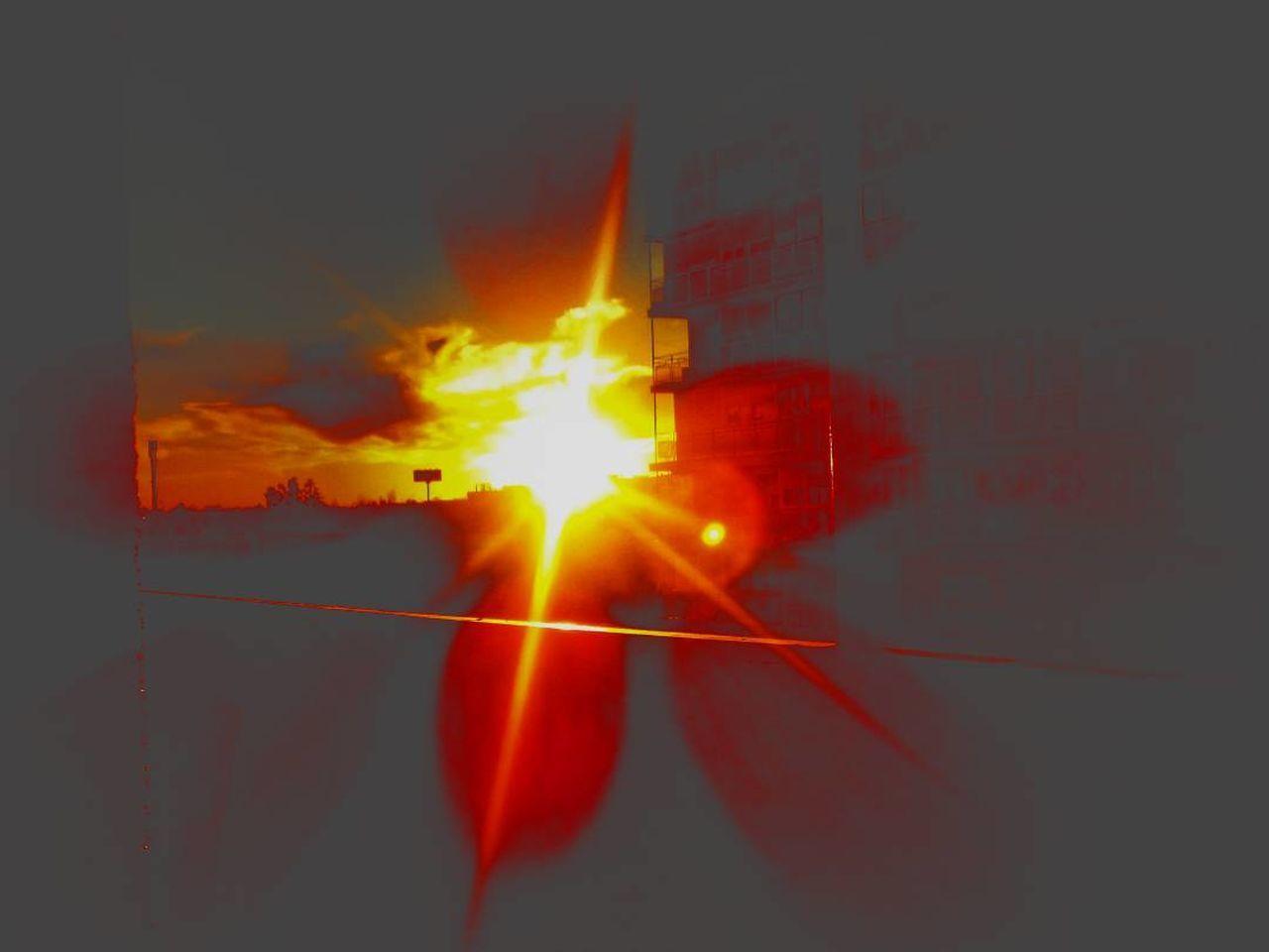 Burning Sky Sun Nature Puestadesol Sunset Window