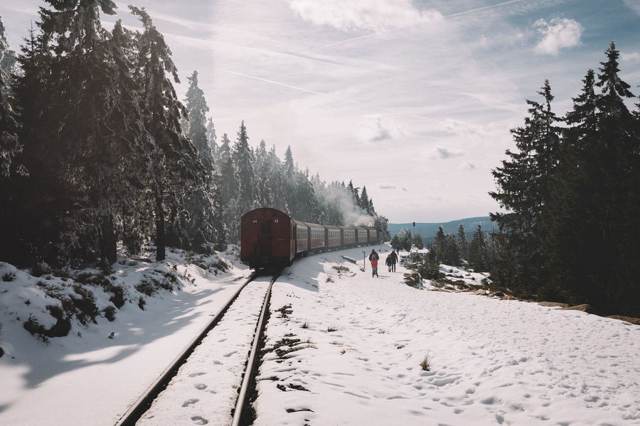 Hogwarts express through the Harz Mountains Beauty In Nature Brocken EyeEm Best Shots Harz Landscape Mountain Nature Outdoors Sky Snow Spring Tourism Travel Destinations Traveling Tree VSCO Vscocam