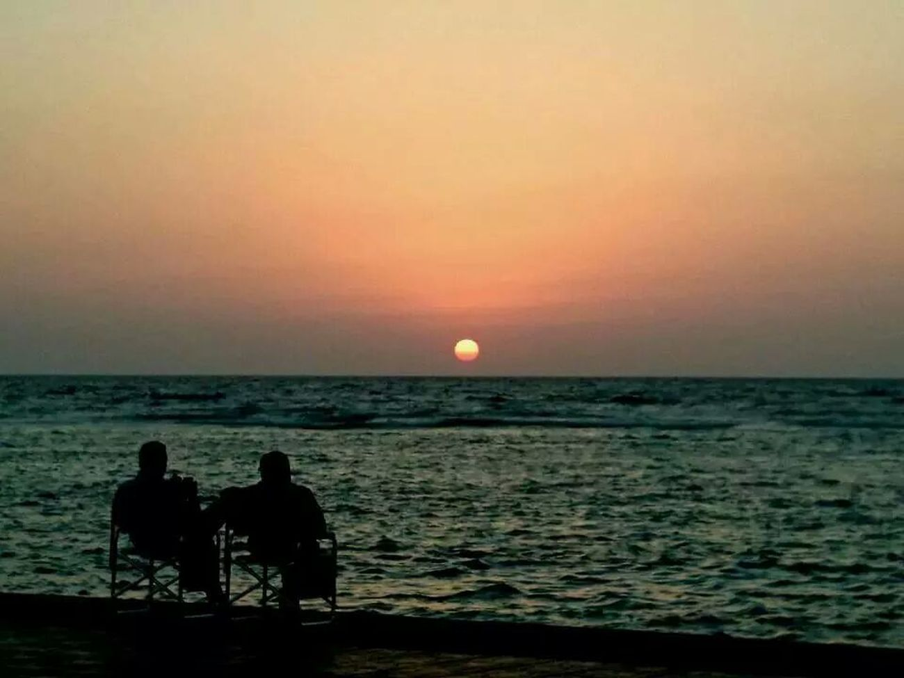 The EyeEm Facebook Cover Challenge Me & my wife enjoy our Sunset Enjoying The Sun Lovers Taking Photos Husband And Wife Enjoying The View