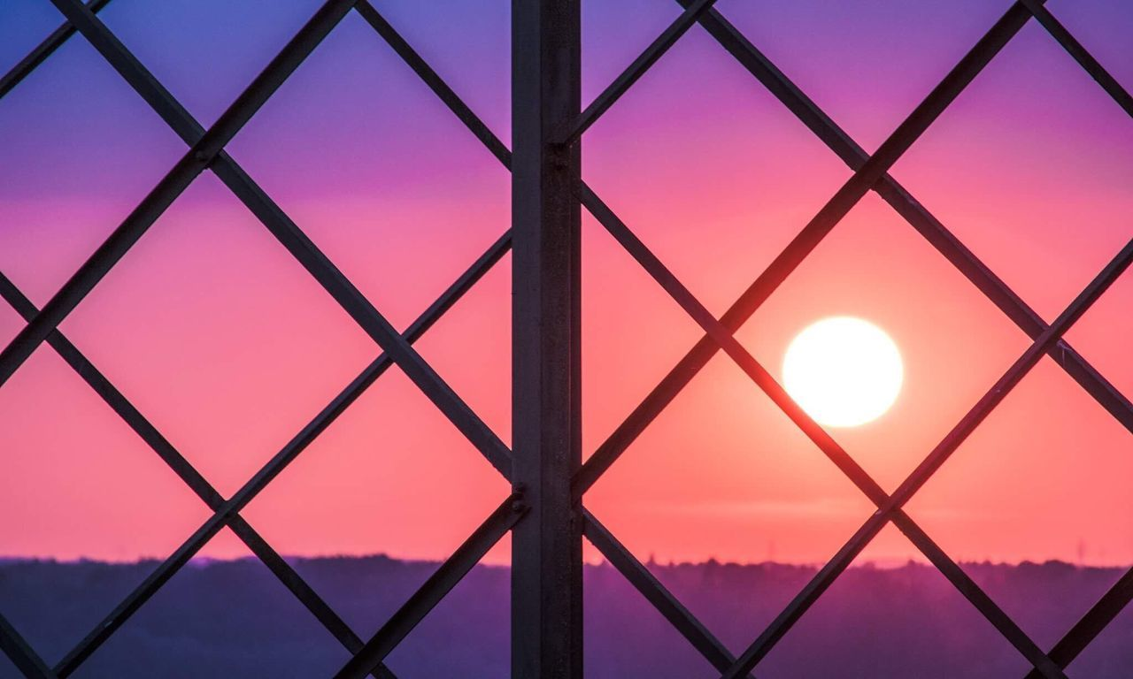 Sunset Sun Metal Shape No People Sky Pattern Pink Color Full Frame Outdoors Day Sunlight Ball Art Is Everywhere Perspective Colours Colour Of Life Pattern, Texture, Shape And Form cClose-up