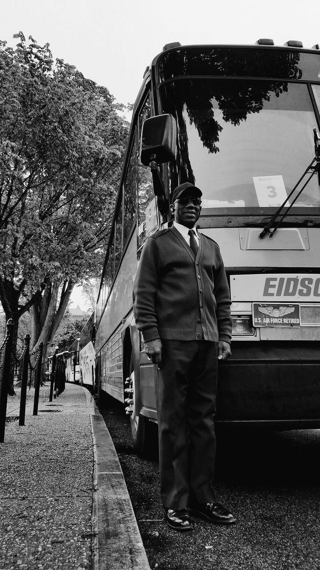Mr. Eidson. BadAnimals Images. 2016. Mobilephotography WashingtonDC Blackandwhite GalaxyS7Edge Takingphotos People Transportation Buses