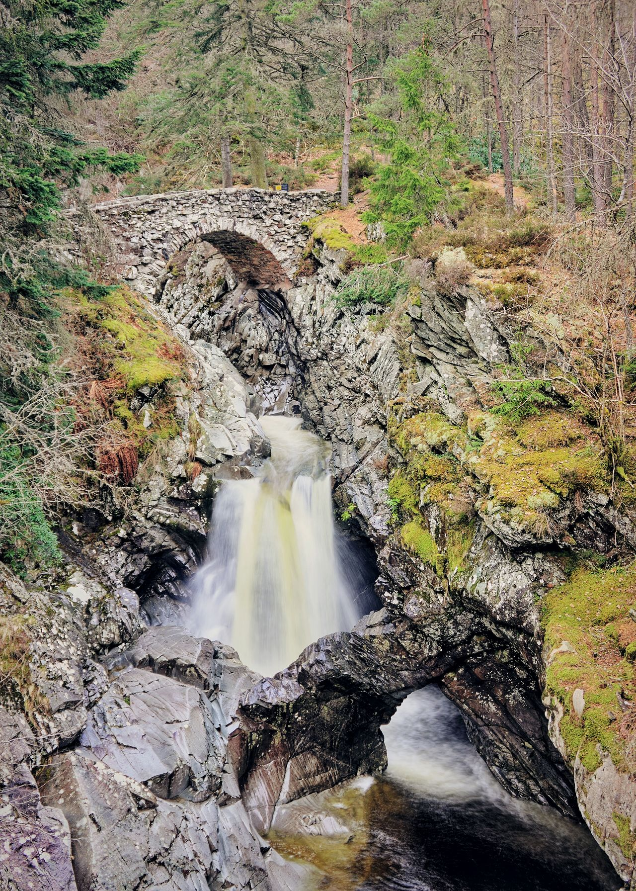 Approach to the lower bridge, Falls of Bruar Perthshire Waterfall Geology Falls Of Bruar Pitlochry Scotland Eyeem Scotland  Highlands Landscape