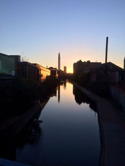 Birmingham Canal at dusk Birmingham Canal Sunset Dusk Reflection Water