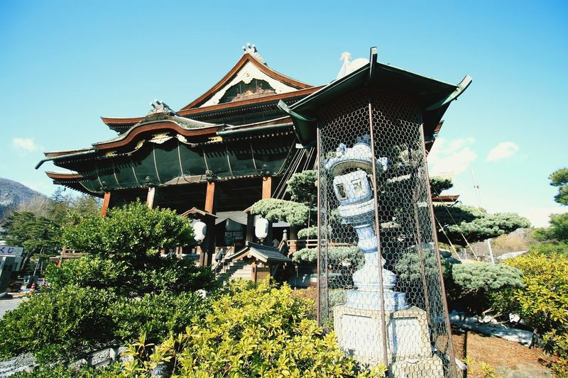 地震の傷痕が残ってますが 善光寺 (zenko-ji Temple)