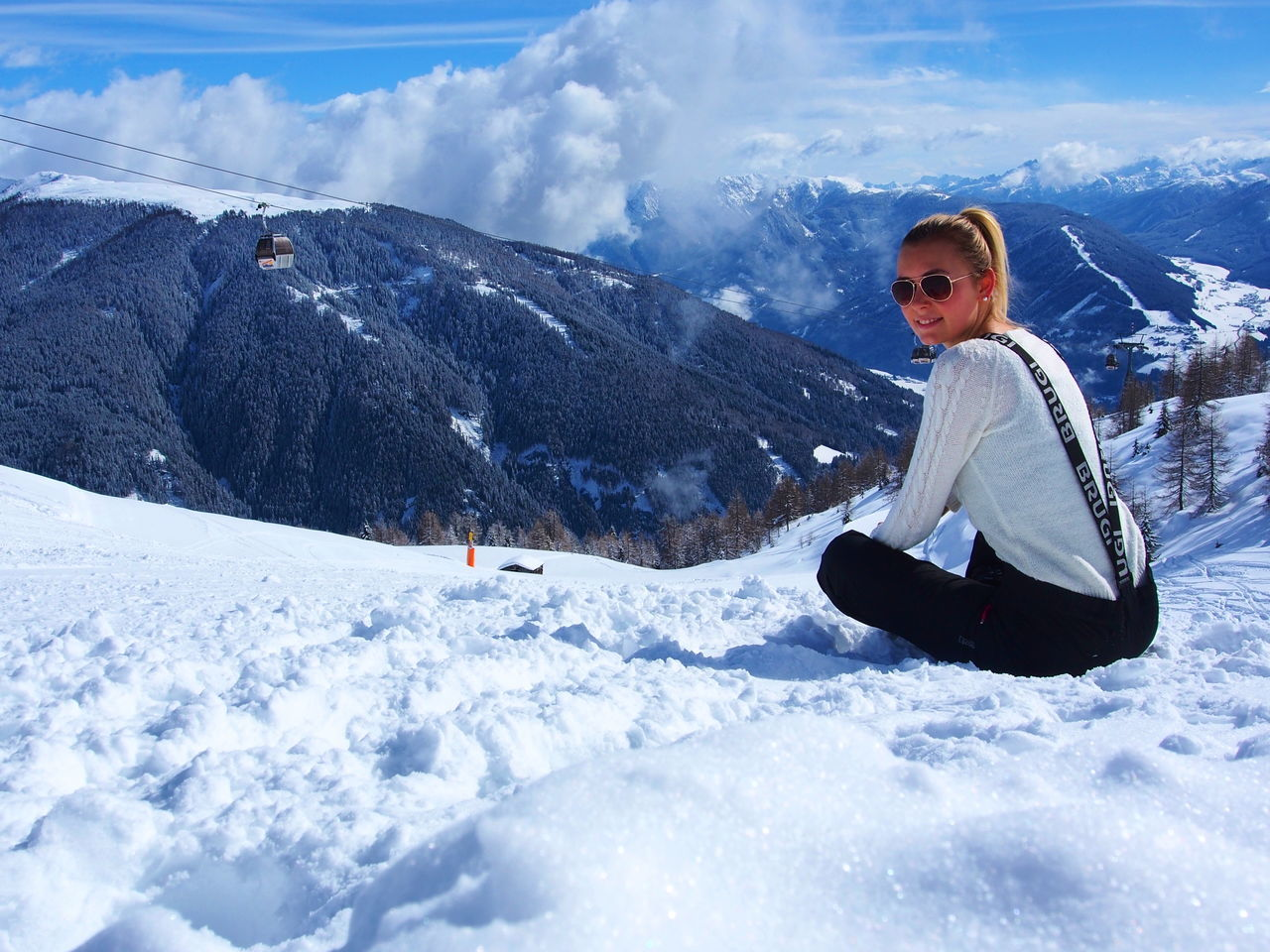 Alps BeautifulWinter Beauty In Nature Blondgirl Cloud - Sky Cold Temperature Dolomites, Italy Epic Girlonthetrip Mountain Nature Outdoors Sitting Sky Snow Snow Covered Snow Day Snowboarding Sportgirl Travelgirl Winter Winter Wonderland WinterChill Winterday Wintertime