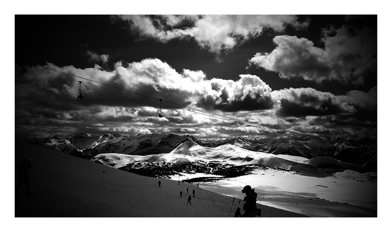 Skiing Snow Black And White Mountain Clouds And Sky Snow ❄ The Great Outdoors - 2016 EyeEm Awards