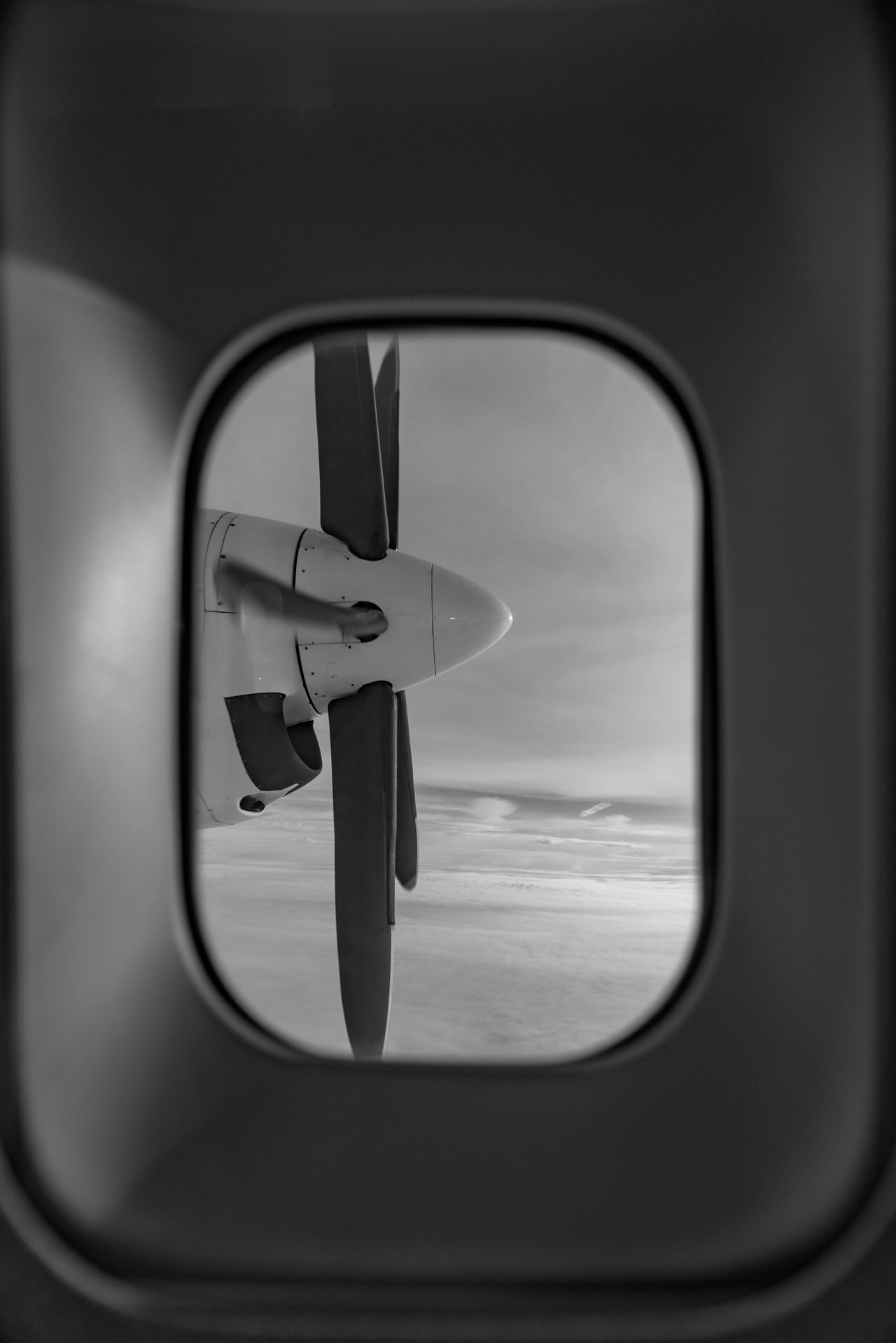 Flying over the North Sea Airplane Black And White Close-up Day Flying Fokker 50 Indoors  Looking Out No People Sky Transportation Turbo Propeller Water Window Let's Go. Together.