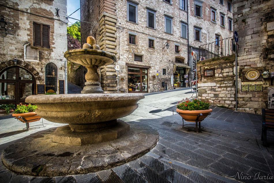 Architecture Travel Destinations Outdoors Fountain Water Sigma10-20 Italy Canon550D Gubbio, Perugia, Italy
