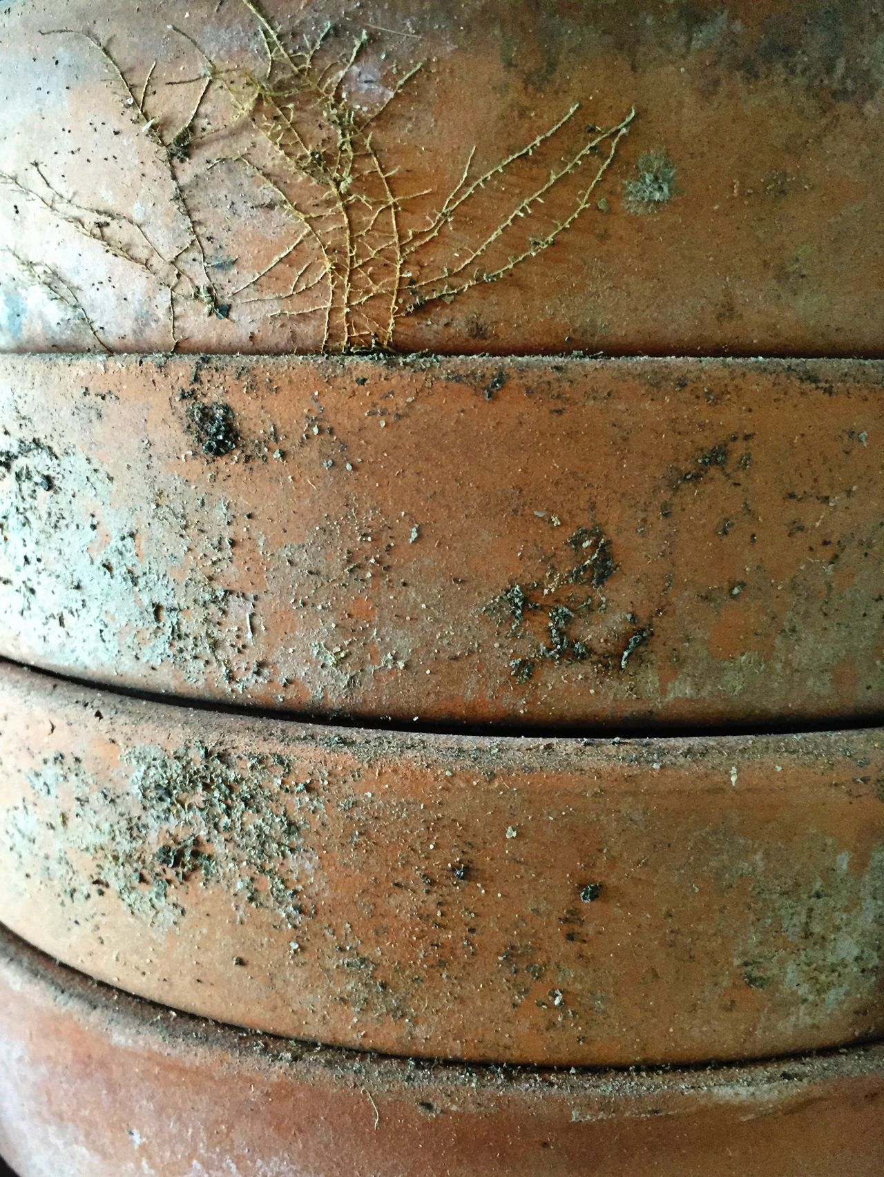 Stacked Clay Pots Gardening Claypot IPhoneography Pattern Pieces Rootlet