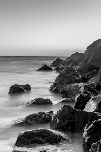 Long exposure. Blackandwhite Long Exposure Sea Sunset Rocks Canon 600D