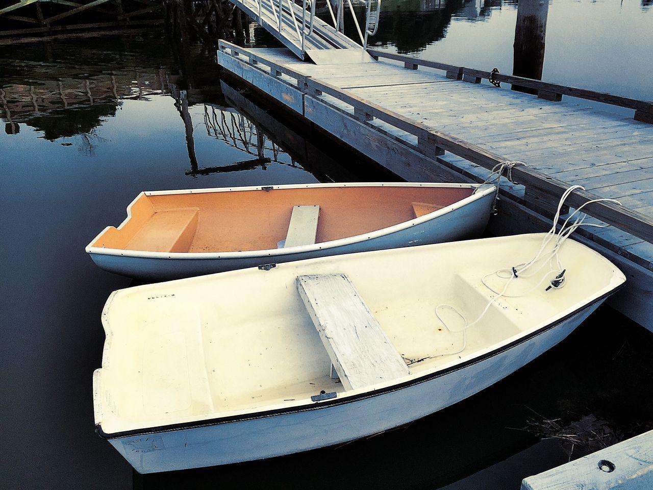 Boats Moored At Pier