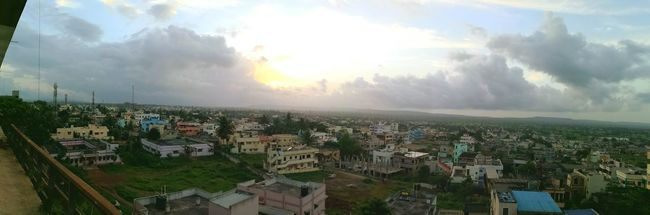 Belagavi's great view. You have its little town on th left, and the open green field on the right. Belgaum, India. India Med Life Travel Panorama View Local Photography Study Town Field