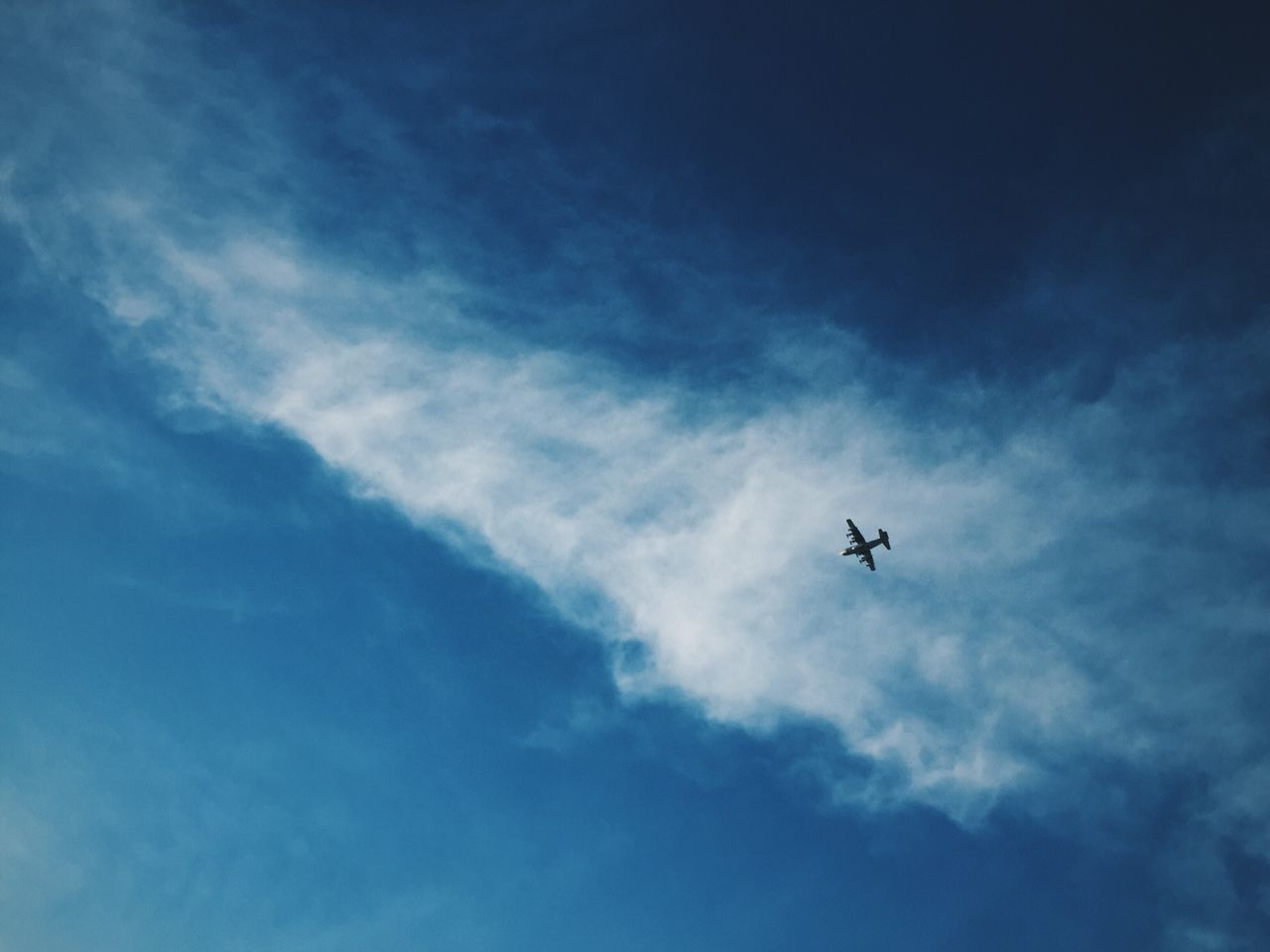 Air Vehicle Airplane Cloud - Sky Day Flying Low Angle View Nature No People Outdoors Sky Transportation
