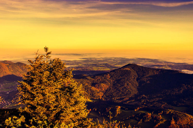 Thegreatoutdoorswithadobe Lake View Sunrise Autumn Colors Landscape Tranquil Scene No People Awesome_view Southern Bavaria Bavaria Mountain View Great View Himmel Auf Erden Heaven On Earth