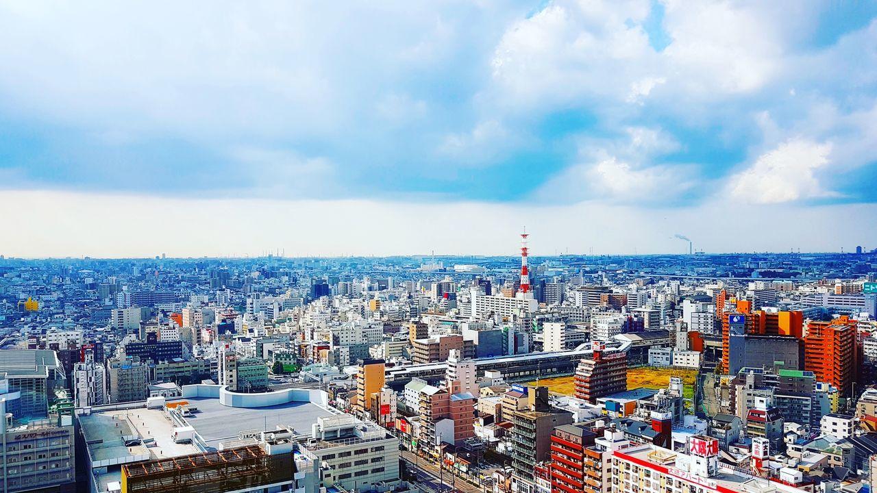 View from Tsutenkaku Tower at Osaka Japan City Cityscape Aerial View Architecture Japan Tsutenkaku Neighborhood Map Travel OSAKA Osaka 大阪 The Great Outdoors - 2017 EyeEm Awards