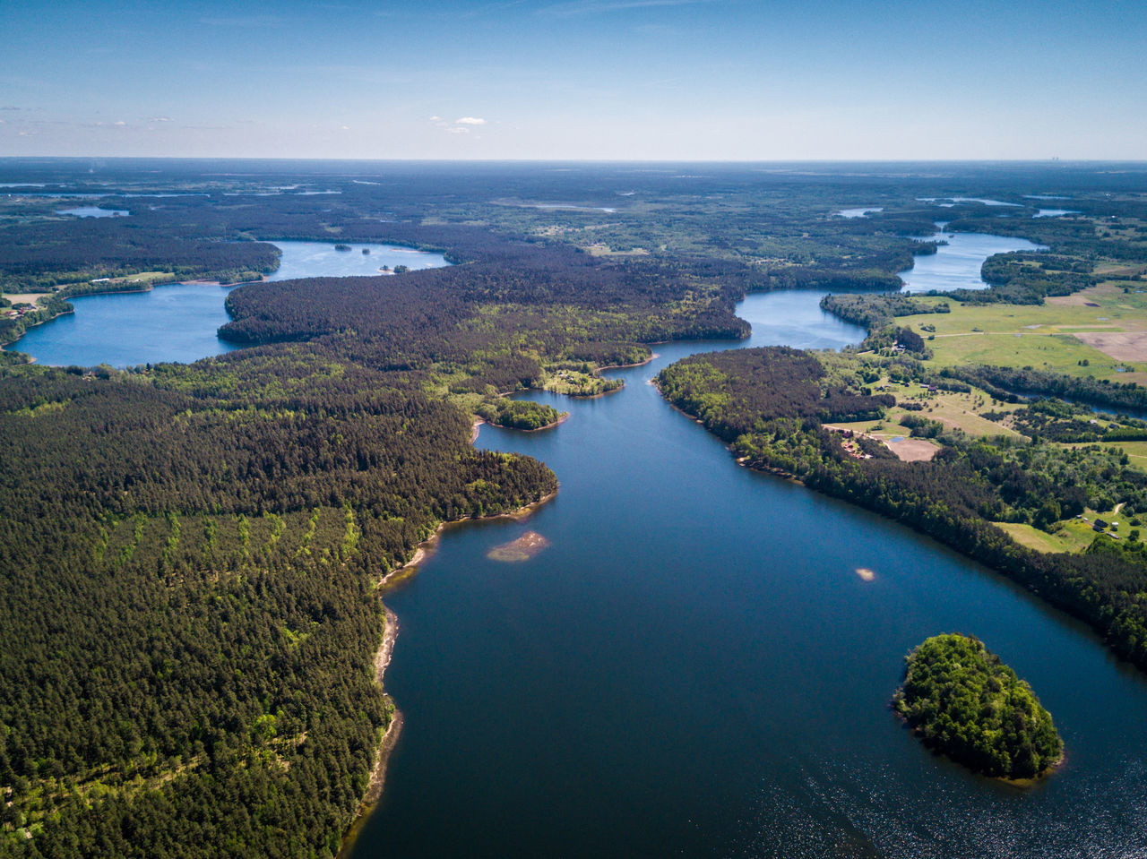 Long blue lake in forest. Asveja Beauty Beauty In Nature Blue Water Dji DJI Mavic Pro Drone  Dubingiai Eastern Europe Europe Horizon Over Water Lake Landscape Life Lithuania Lithuania Nature Mavic Pro Narrow Lake Nature Outdoors Panorama River Scenics Water Wild