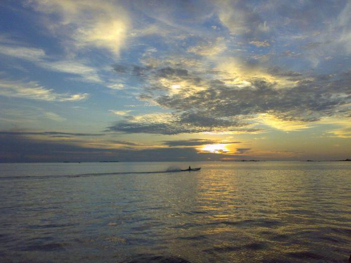 Maccini Baji Sunset Sea Water Reflection Tranquility Sky Cloud - Sky Sun Beach Dramatic Sky Horizon Over Water Nature Scenics Outdoors Tranquil Scene Summer Beauty In Nature Travel Destinations Idyllic Beauty