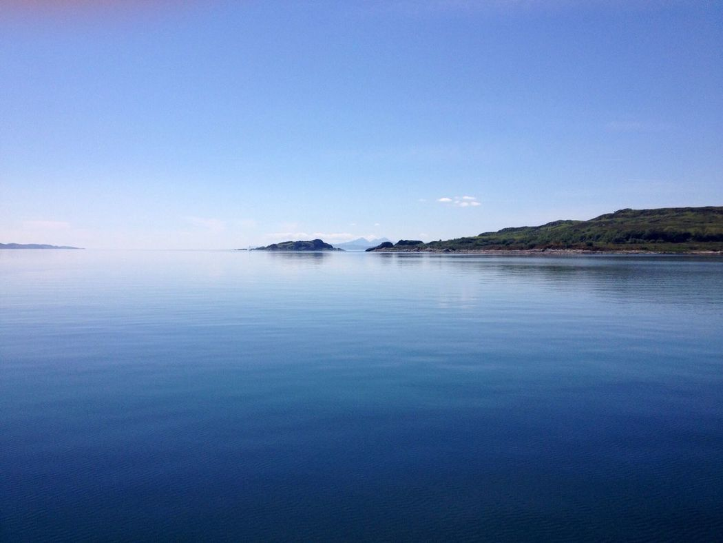 Scotland Scottish Highlands Scotlandlover Scottish Scottish Isles Jura Paps Still Water Tranquil Scene Scenics Tranquility Sea Blue Waterfront Beauty In Nature Finding New Frontiers Seascape Reflection Calm My Year My View Sky Majestic Mountain Ocean