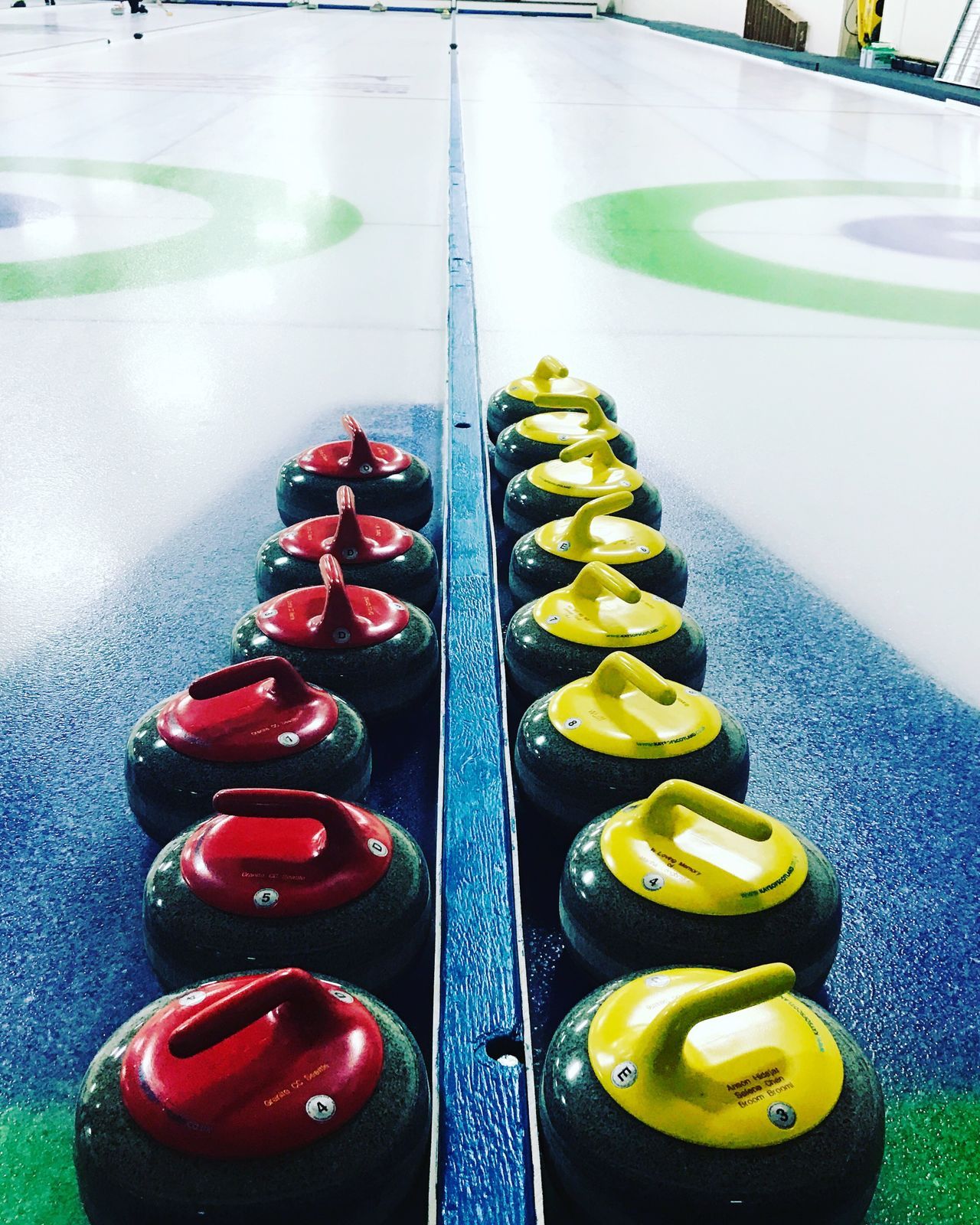 Red High Angle View Green Color No People Indoors  Day Curling Curlingsport Seattle, Washington Wintersport Stones Canadian