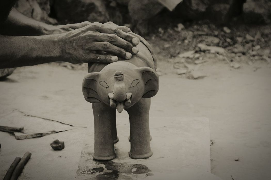 Pottery Workshop Small Business Pottery Maker Clay Work Clay Pottery And Clay Hands On Clay Animals Black And White Working Man Clay Elephant Pottery Passion Object Photography Elephant Statue Clay House Art Is Everywhere