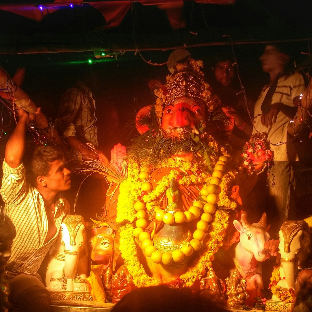 celebration, illuminated, night, cultures, tradition, indoors, statue, togetherness, no people