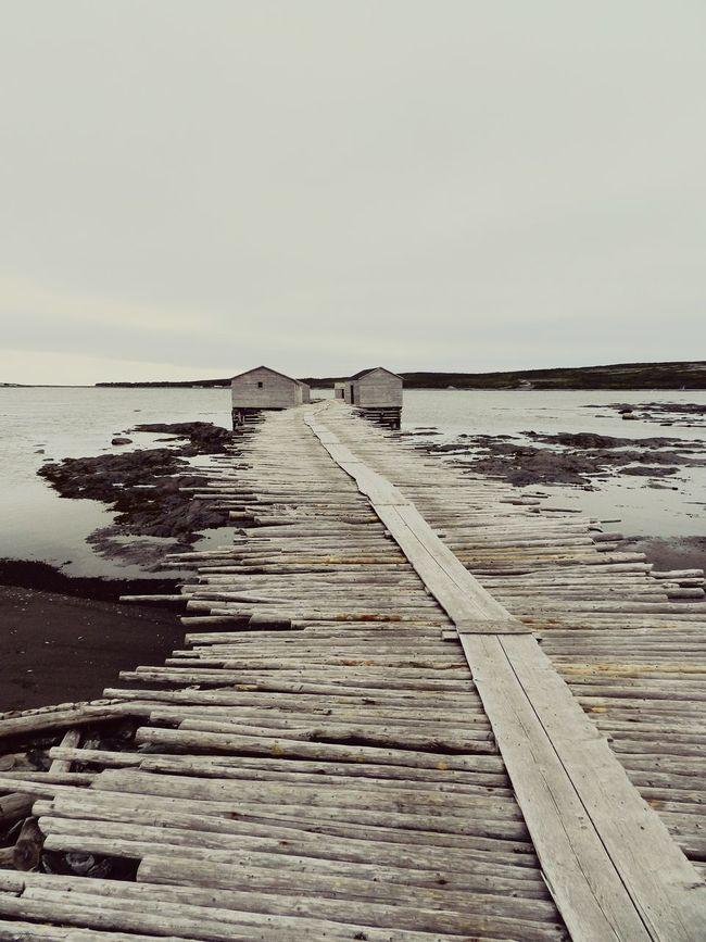 Newfoundland Canada Fishing Community Dock Wharf Fishing Shack Coastal
