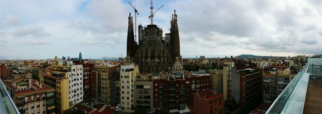 Barcelona Architecture Built Structure Building Exterior City Sky Cityscape Tower Cloud - Sky Travel Destinations Crowded Skyscraper Tall - High City Life Development Outdoors Wide Shot Tourism Tall Residential District Day Cloudy Sagradafamilia Sagrada Familia