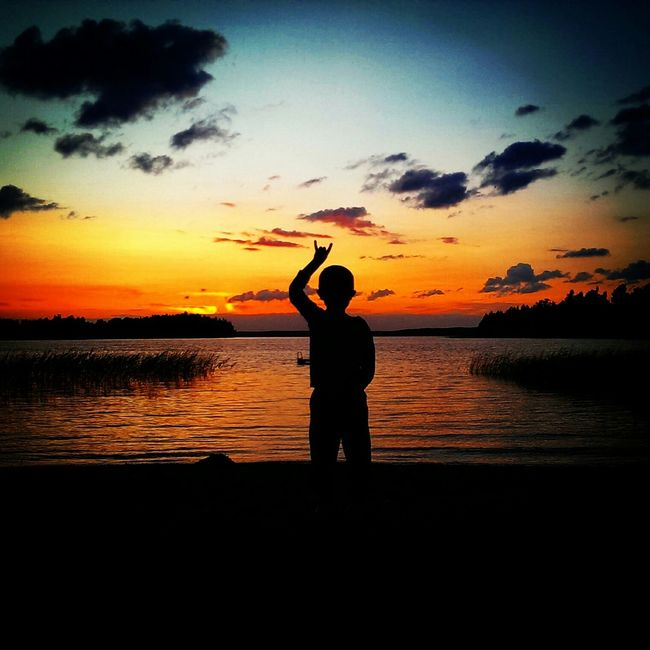 Uptheirons Sunset Silhouettes Sunset Sillhouette Metal Nature Beach Picoftheday Sverige