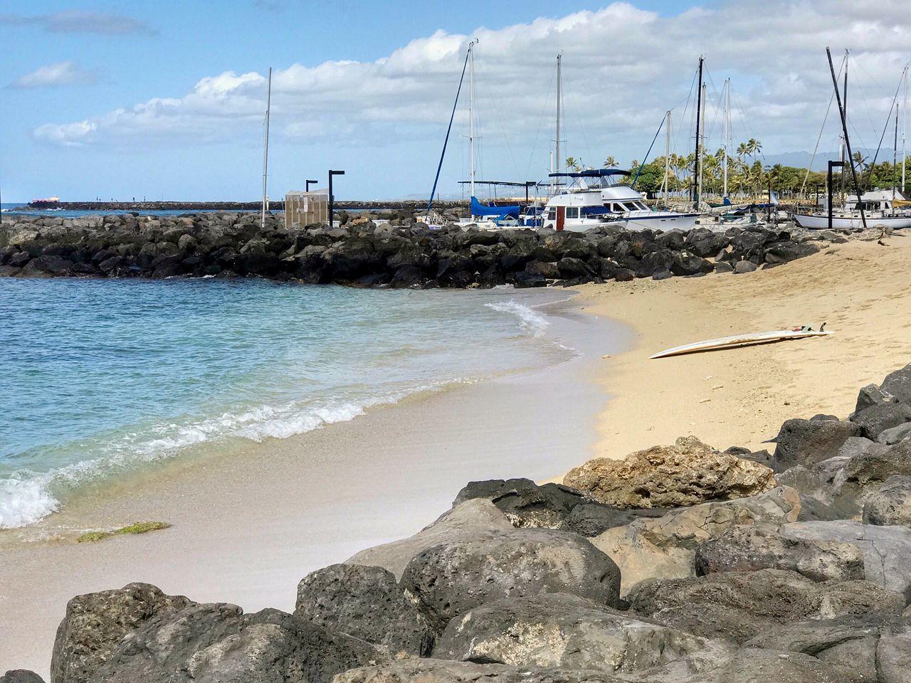 Beach Ocean Boats Shoreline Hawaii Sky IPhoneography IPhone