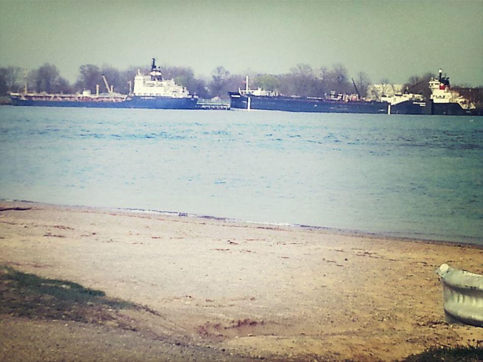 ships docked in Sarnia, Canada, I took the pic @ the Marysville Beach