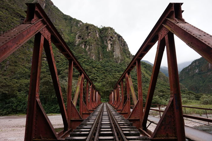 Architecture Bridge - Man Made Structure Built Structure Connection Day Macchu Picchu Macchu Picchu Passageway Machu Picchu Mountain Nature No People Outdoors Peru Rail Transportation Railroad Track Sky The Way Forward Transportation