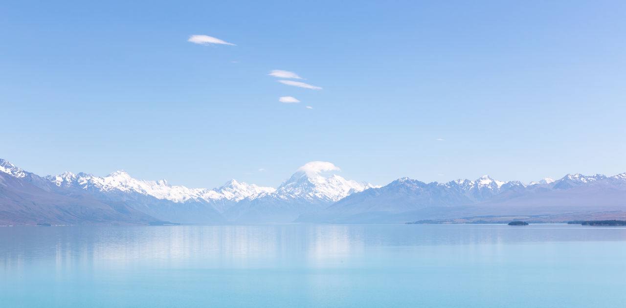 Lakr Pukaki and Mount Cook in New Zealand. Peace And Quiet Hello World Lovely Weather Beautiful Day Traveling Popular Photos Nature Landscape