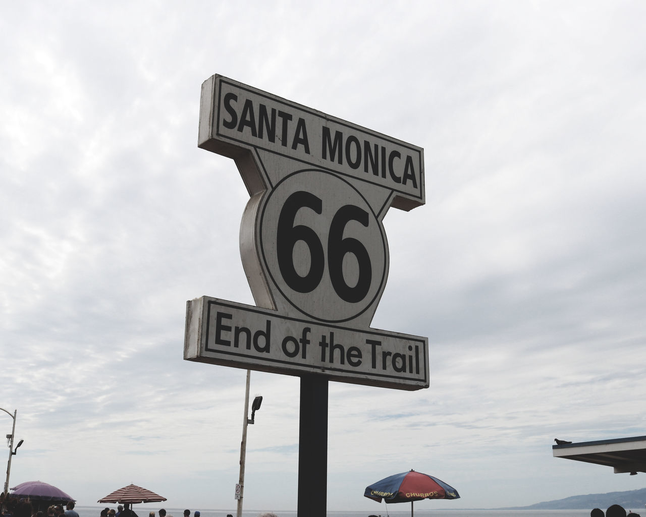 California Cloud - Sky Clouds Communication Day Los Angeles, California Nature No People Number Outdoors Road Sign Route 66 Santa Monica Sky Speed Limit Sign Summer Text