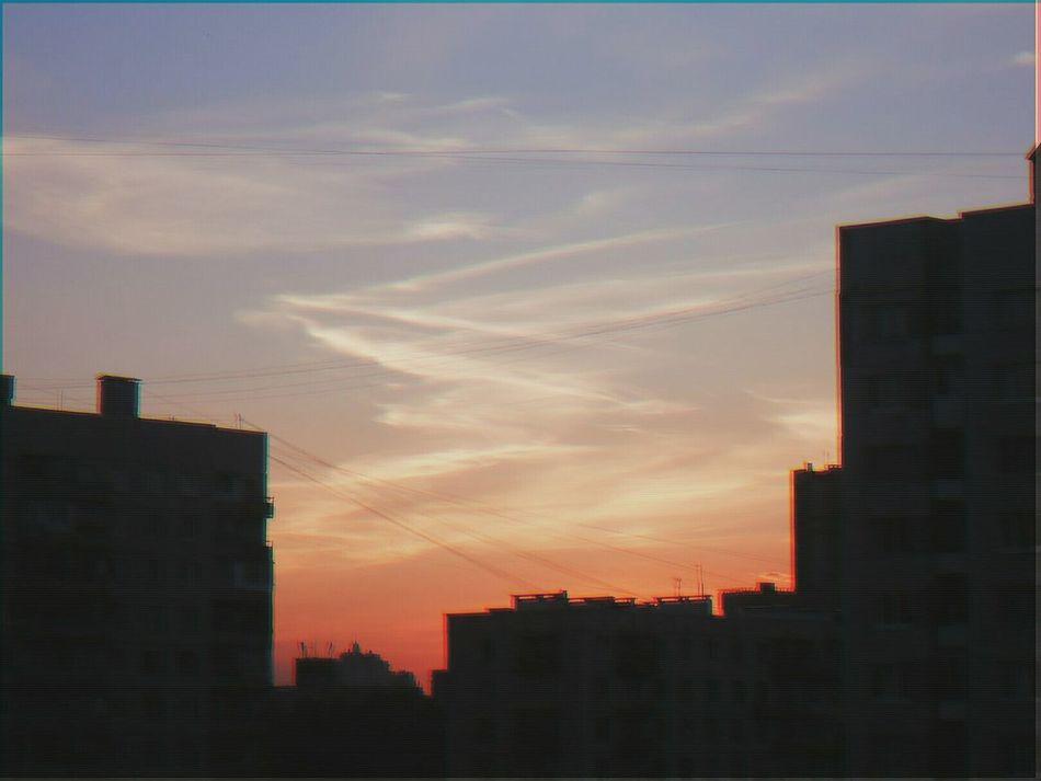 Sky Clouds Sunset Film Vscocam Vscofilm VSCO Vhsglitch VHS Pionerskaya
