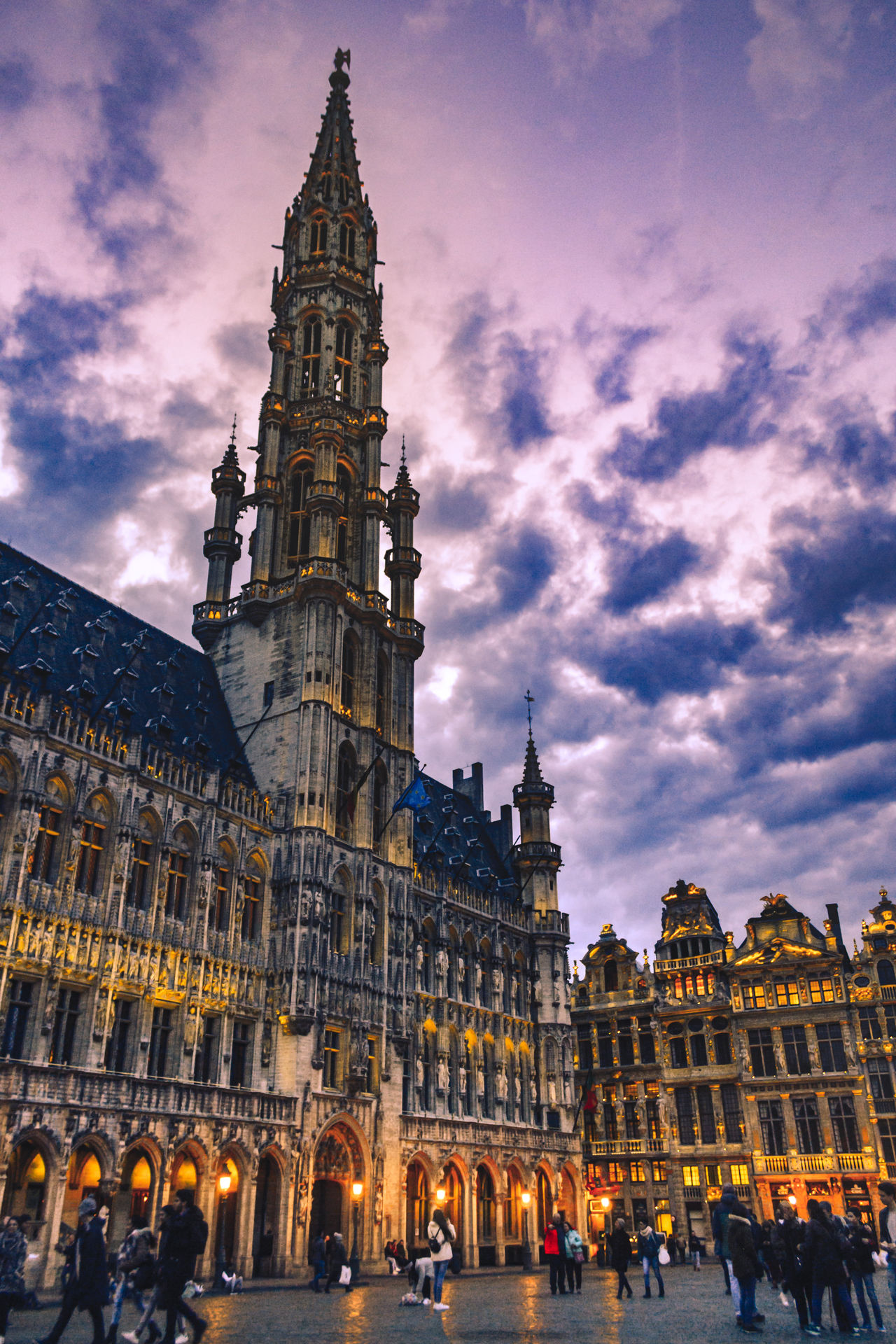 Architecture Tower Travel Destinations Cultures City Travel Clock Tower OutdoorsReligion EyeEm Sunset Tourism Cityscape Large Group Of People Sky Low Angle ViewBrussels Spirituality Place Of Worship EyeEm Gallery EyeEm Best Shots EyeEm Best Edits Eye4photography  Love City