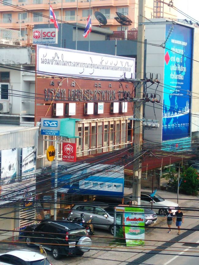 Street Photography Facade Building Electricity Wires Road Commemorate Si Racha
