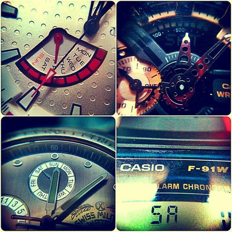 Saturday!!!! Weekends Casiowatches Gshockwatch Swissmilitary Titanwatches Octane F91w Watchesofinstagram Watchfinder Watchgeek Follow4follow F4F Pondicherry Bnw_india Macrolenses Nexus4