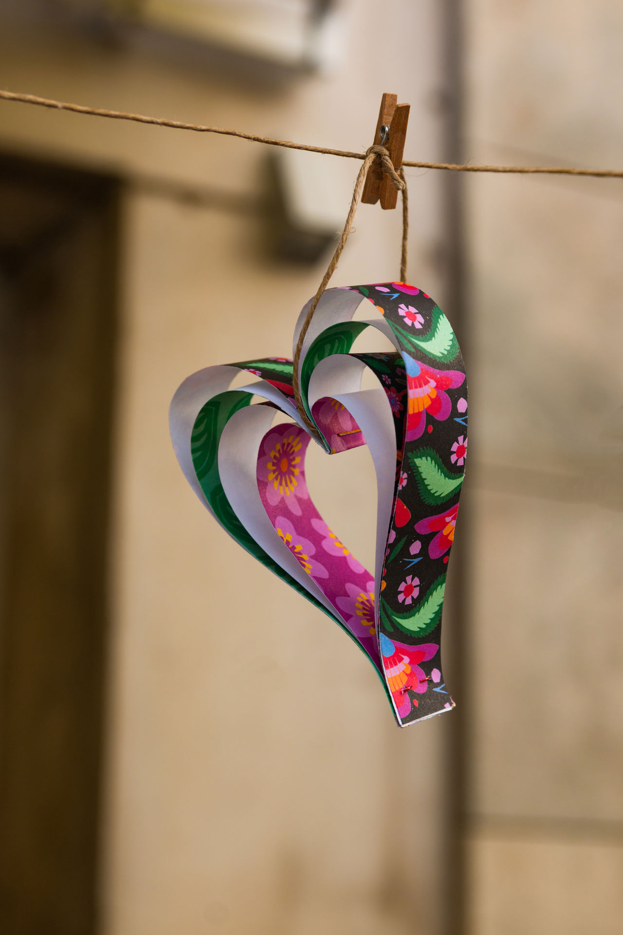 Close-up Day Decoration Focus On Foreground Handmade Hanging Heart Shape No People Outdoors Valentine's Day
