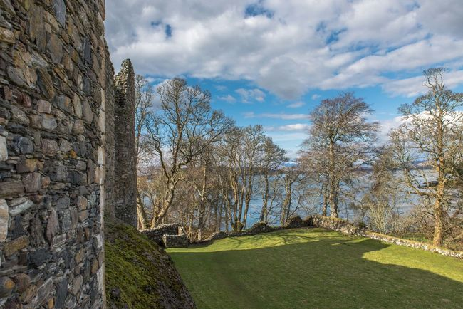Dunstaffnage Castle Beauty In Nature Castle Cloud Cloud - Sky Cloudy Field Grass Grassy Green Color Growth Hill Landscape Mountain Nature No People Non-urban Scene Outdoors Scenics Scotland Sea Sky Tranquil Scene Tranquility Trees