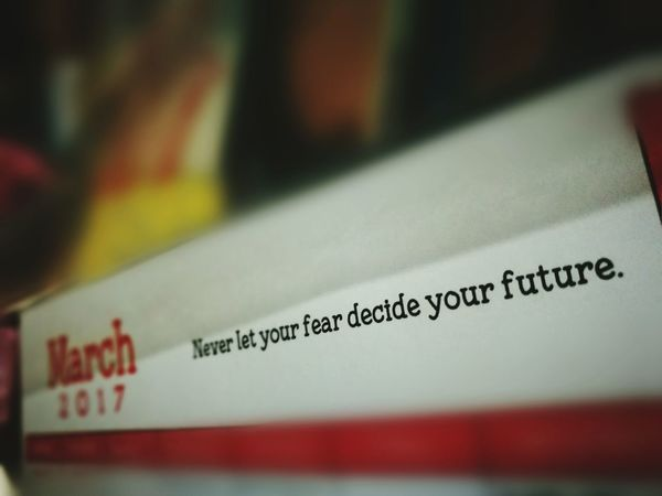 Never let your fear decide your future. Fear March Cebu City, Philippines P9photography