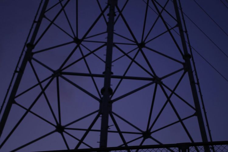 An Electric Wire A Pylon A Steel Tower