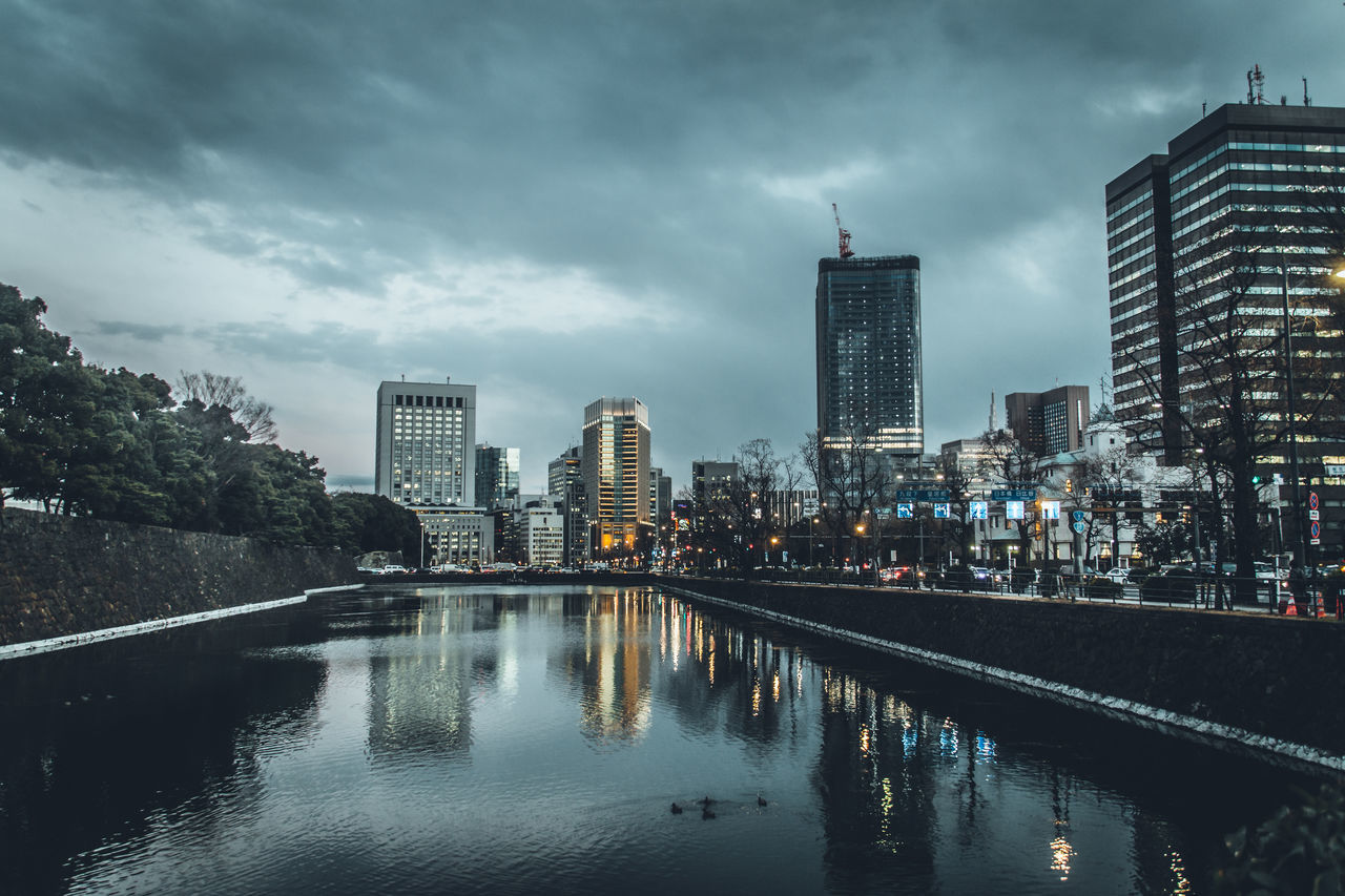 Drastic Edit Faintly Colors - 仄か Atmospheric Mood Buildings Capture The Moment City Darkness Day Exceptional Photographs EyeEm Best Edits EyeEm Best Shots Japan Landscapes Light And Shadow Lights Modern Outdoors Reflection River Sky Sky And City Skycraper Urban Exploration Urban Skyline Water Reflections