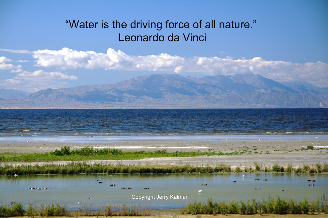 Today is the anniversary of when a levee broke through on the #ColoradoRiver near #Yuma early last century and flooded an area of #CaliforniaImperialValley to create the #SaltonSea. The#quote is by #LeonardoDaVinci. If this #quotograph resonates with you feel free to #repost for others to enjoy. El Centinillo Imperial Valley Leonardo Da Vinci Mountain Quotes Sal Salton Sea Young Adult Yuma