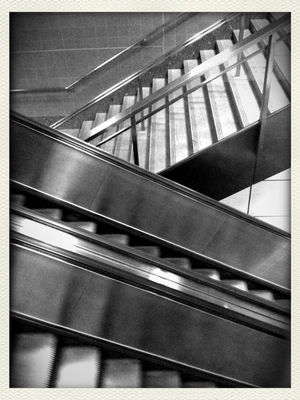 escalator at Bangkok by Popz Ok